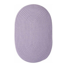 Colonial Mills, Inc - 12 Ft. X 15 Ft. Oval Rug ,Amethyst Textured Braided   by Super Area Rugs - Outdoor Rugs