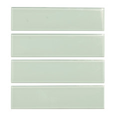 """3""""x12"""" Glass Subway Tile, Oracle Collection, Ocean Glass, Subway Tile, Set of 5"""