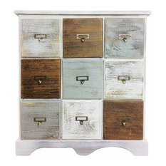 Wooden Cabinet With 9 Drawers