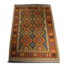 """Tribal Afghan Oriental Rug, 4'9""""x7'"""