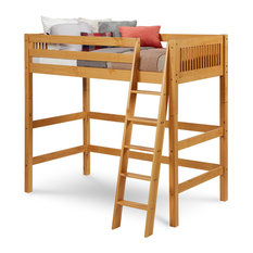 Camaflexi Twin, High Loft Bed, Mission Headboard, Natural