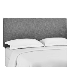 Modway Taylor Upholstered Linen Twin Headboard In Light Gray