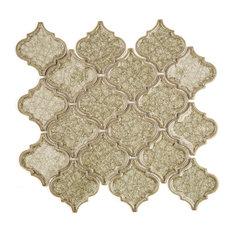 Roman Selection Glass Mosaic Tile, Iced Blue, Yellowish Gray