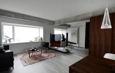 Houzzツアー:シンプルさが生み出す贅沢。モダン・オリエンタルスタイルが美しい、香港のアパートメント