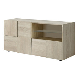 Diana TV Unit, LED Lights, 121 cm, Sonoma Oak