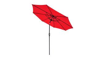 9' Crank Tilt Aluminum Patio Umbrella, Red