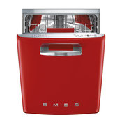 Smeg 24'' 50's Retro Style Series Pre-finished Dishwasher, Red