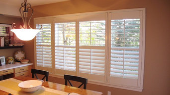 Beautiful Fauxwood Shutters for the Dining Room!
