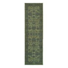 "Oriental Weavers Foundry 4924E Gray/ Gray Oriental Area Rug, 2'7""x9'4"""