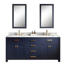 "72"" Monarch Blue Double Sink Bathroom Vanity"