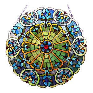 Willa Tiffany-Glass Victorian Window Panel
