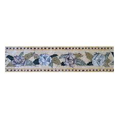 "Mosaic Tile Patterns, Blue Bells, 6""x12"""