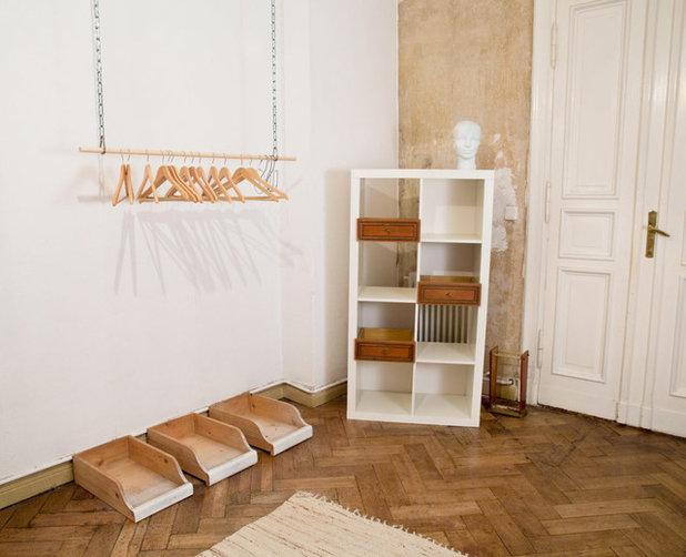 kleiderstange selber bauen die diy alternative zum kleiderschrank. Black Bedroom Furniture Sets. Home Design Ideas