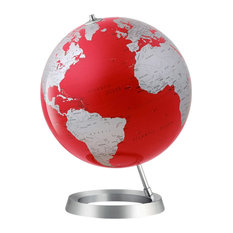 Atmosphere Globes Vision Red and Silver Globe