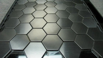 Hexagon Stainless Steel Mosaic Tiles