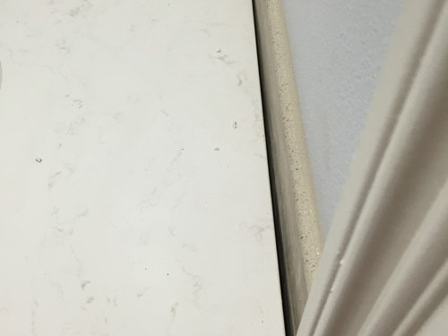 How To Fix This Gap Between Vanity And Wall