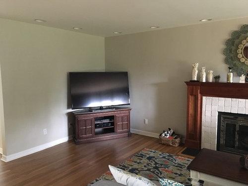 How Do I Decorate Around This Corner Tv Unit