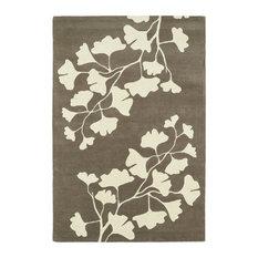 Kaleen Hand-Tufted Melange Gray Wool Rug, 8'x10'