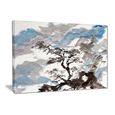 """Chinese Pine Tree"" Trees Canvas Print, 20""x12"""