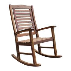 caravan acacia trinidad porch rocker brown outdoor rocking chairs