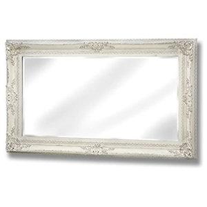 Large Baroque Mirror, White
