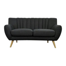Lilly Loveseat 2-Seater Sofa, Dark Gray