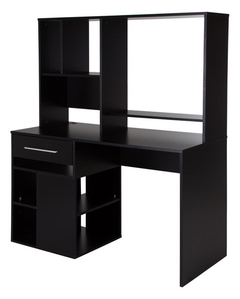 South S Annexe Home Office Computer Desk Pure Black