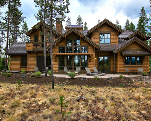 Luxury mountain craftsman house plan 9069 for Luxury mountain home plans