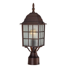 "Nuvo 60/4908 Adams 1-Light 17"" Outdoor Post, Rustic Bronze"