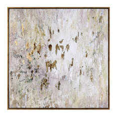 Golden Raindrops Modern Abstract Art Designed by Grace Feyock
