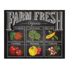 Magic Slice Non-Slip Flexible Cutting Board, Farm Fresh by Lisa Conlin