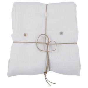 Pure Duvet Cover, Ivory, 155x220 cm