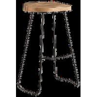 """Romboss Saddle Seat 30"""" Bar Stool, Natural and Black"""