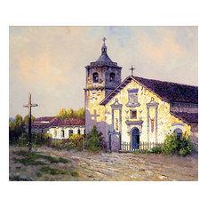 """""""Mission Santa Clara De Asis"""" Art, 30""""x24"""""""
