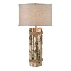 Cobray 1 Light Table Lamp in Natural Birch Bark
