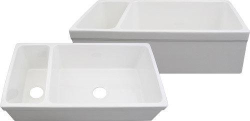 quatro alcove double bowl fireclay farmhouse sink kitchen sinks apron kitchen sink kitchen sinks alcove