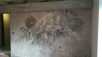 Mur tête de lit Patines et décor