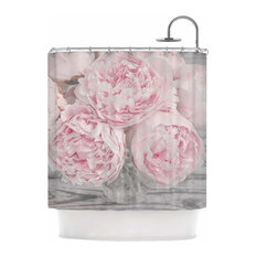 """Suzanne Harford """"Pink Peony Flowers"""" Floral Photography Shower Curtain"""