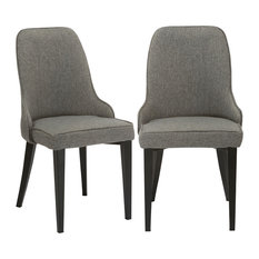 dining room chairs wooden. Btexpert  Nida Dining Chairs Set of 2 Steel Gray Most Popular Room for 2018 Houzz