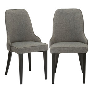 Nida Dining Chairs, Set Of 2, Steel Gray Btexpert