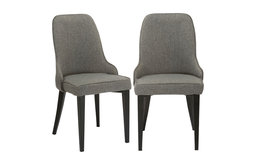Carmen Upholstery Dining Chairs, Set of 2, Steel Gray