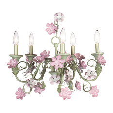 5-Arm Leaf and Flower Chandelier