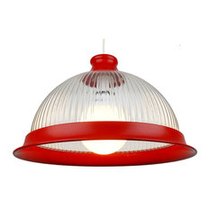 American Diner Easy-Fit Pendant Shade, Red