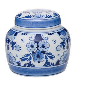 Blue Floral Tea Caddy, Small