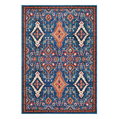"Traditional Vintage Diamond Drops Rug, 7'10""x11'"