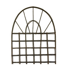 "Willow Round Top Lattice Trellis, 24""W x 72""H"