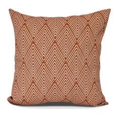 "Lifeflor, Geometric Print Pillow, Orange, 26"" x 26"""