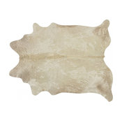 Pergamino Champagne Cowhide Rug, Large