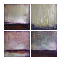 Rustic Abstracts II Stone Coasters, Set of 8