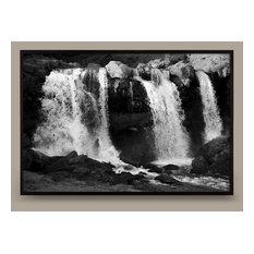 """Falling Water No. 3, 32""""x22"""" Framed, White"""